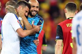 Italia da una lección de oficio a Bélgica