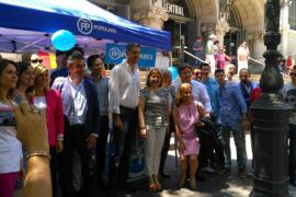 Vidal se reúne con los populares de València, Catalunya y Navarra para denunciar las malas prácticas de los gobiernos «populistas»
