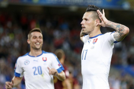 Un gran Hamsik guia a Eslovaquia a la victoria ante Rusia