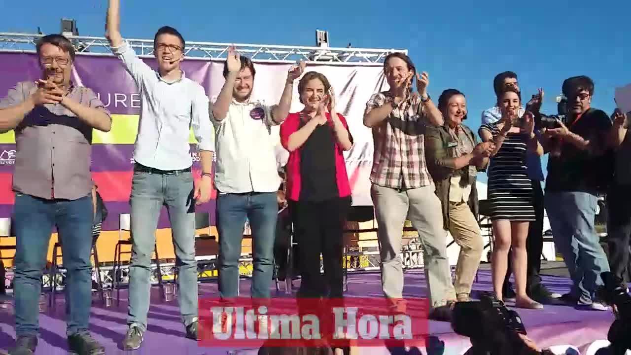 Más de 5.000 personas asisten al mitin de Units Podem Més en Palma