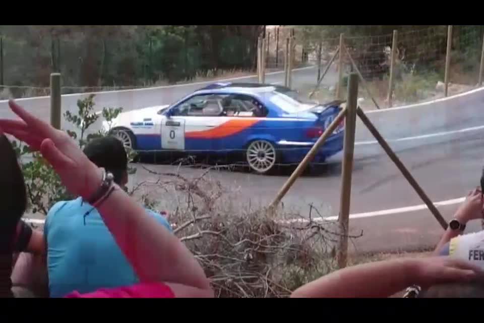 Cuatro heridos graves tras un accidente en el Rallysprint Afició de Calvià