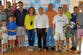 Entrega de premios del torneo de pádel del 50 aniversario de Man
