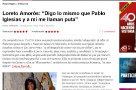 La candidata a senadora Loreto Amorós da el salto a Interviú