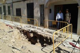 Unas obras públicas en ses Salines sacan a la luz nuevos datos del foso romano
