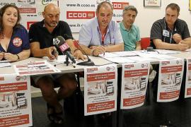 Protesta contra el sistema de control de acceso al párking de Son Espases