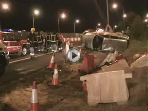 Una persona herida en un accidente de tráfico en la Vía de Cintura