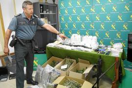 Intervienen 2,5 kilos de cocaína y 4 de cristal a la banda detenida en la comarca de Llevant