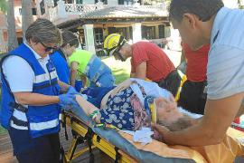 Herida tras caer por el foso de la piscina en un chalet de Bendinat
