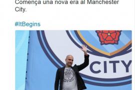 El Manchester City, con motivo de la llegada de Guardiola, crea un perfil de Twitter en catalán