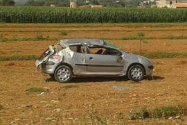 Fallece un hombre en accidente de coche en sa Pobla