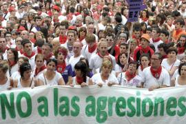 Concentración en Pamplona contra la agresión sexual registrada este miércoles