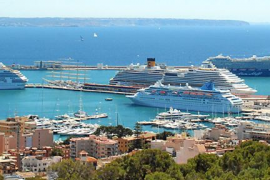 Menos del 20 % de cruceros que llegan a Balears están obligados a pagar la ecotasa