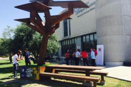 El primer árbol solar fotovoltáico viene con acceso a Internet y permite cargar el móvil