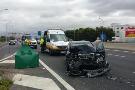 Cuatro heridos en una colisión en cadena en la autopista de Inca