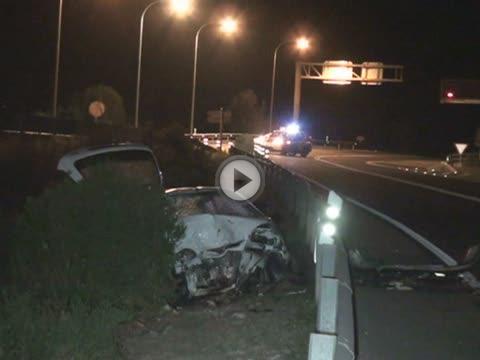 Tres heridos en un accidente de  tráfico en la carretera de Andratx