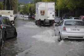 Lluvias de hasta 83 litros por metro cuadrado causan incidentes en Mallorca