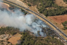 Una colilla provocó el incendio en Ca'n Conquet de Llucmajor
