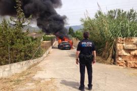 Roba un coche de alta gama en Palma y lo abandona en Inca tras prenderle fuego