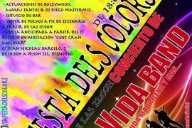 Fiesta Holi y concierto de La Movida Band en Es Portixol