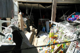 El techo de un bazar chino se derrumba en Felanitx