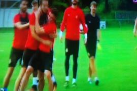 Pelea entre Adrián Colunga y Óscar Díaz en el entrenamiento