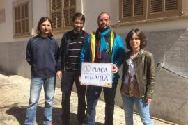 MÉS celebra el cambio de la «denominación franquista» de la Plaça d'Espanya de Sencelles