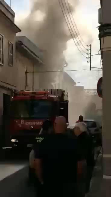 Incendio en una vivienda en Muro