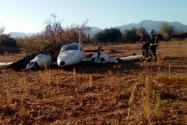 Dos heridos leves en el aterrizaje de emergencia de una avioneta en Inca