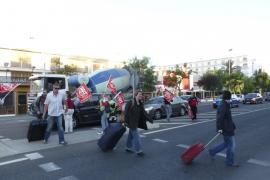La huelga general también 'pincha' en la Part Forana