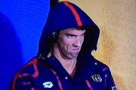 La cara de Phelps ante el baile de un rival se vuelve viral