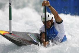 Ander Elosegui, diploma olímpico en slalom C-1 en aguas bravas