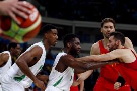 España logra su primera victoria en Río al batir a Nigeria (87-96)