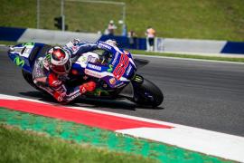 Jorge Lorenzo se sube al podio en Austria