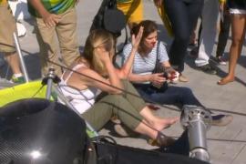 La caída de una cámara en el Parque Olímpico deja al menos siete heridos
