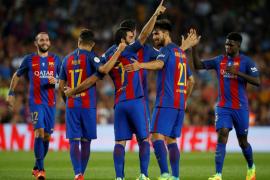 El Barça festeja el primer título