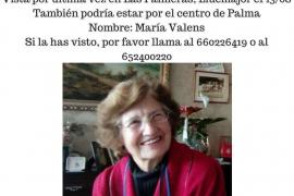 Encontrada en buen estado María Valens, desaparecida desde el pasado sábado