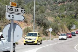La avería de un coche dentro del túnel de Sóller provoca un caos circulatorio