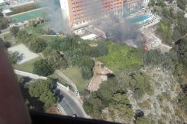 El incendio en Cala Antena está extinguido
