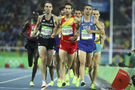 Final de los 1500 metros. David Bustos. Río 2016