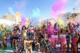 Sant Bartomeu se tiñe de colores