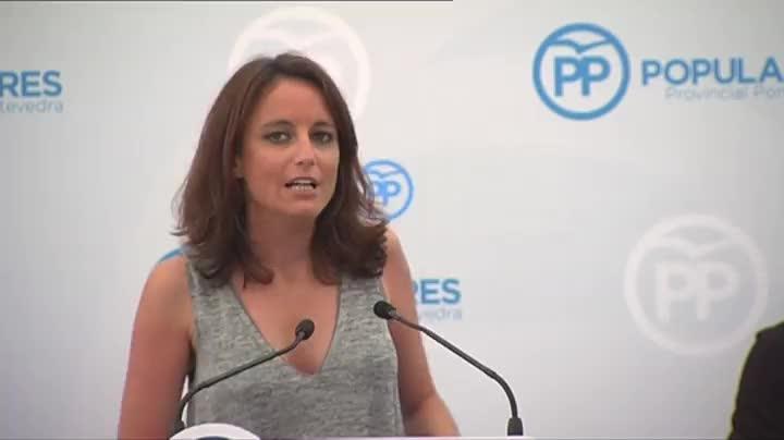 Andrea Levy (PP) felicitó a Ruth Beitia por su oro en salto de pértiga