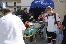 En estado crítico un joven de 27 años tras caer desde un tercer piso en Santa Ponça