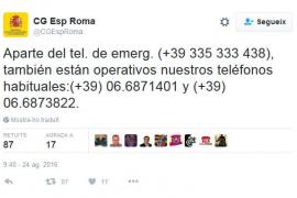 El Consulado en Roma habilita un teléfono para atender a españoles en la zona
