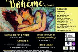 'La Bohème', de Puccini, recorre Mallorca a piano y voz