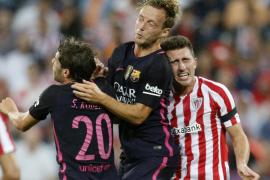 Iván Rakitic decide a favor del Barça un intenso clásico en Bilbao