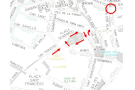 Se reordenará la circulación para ampliar el Acire de Santa Eulalia a partir de este jueves