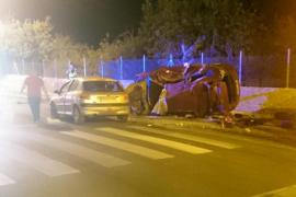 Aparatoso accidente de tráfico en Binissalem
