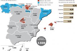 Balears, la región donde más sube el precio de la vivienda respecto a 2015