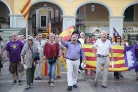 Manifestación ultraespañolista en Palma