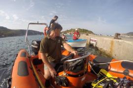 Rescatan un bote de pescadores en sa Dragonera y lo remolcan hasta Sant Elm